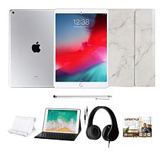 """Apple iPad® 10.2"""" Silver 128GB with Voucher, Keyboard and Headphones"""