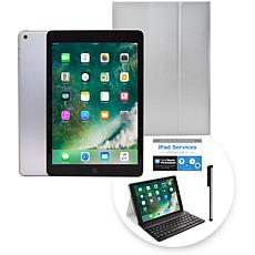 """Apple iPad® 9.7"""" 128GB Tablet with Keyboard Case & 2-Year Tech Support"""