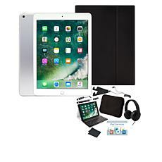 """Apple iPad® 9.7"""" 128GB Tablet with Keyboard Case and Headphones"""