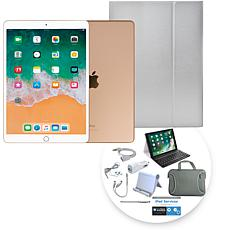 """Apple iPad Air® 10.5"""" 256GB Gold Tablet with Keyboard Case"""