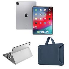 "Apple iPad Pro® 11"" 128GB Cellular Tablet w/Bluetooth Keyboard & Case"