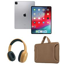 "Apple iPad Pro 12.9"" 128GB Cellular w/Bluetooth Headphones & Case"