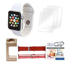Apple® Series 3 38mm Sport Watch with Extra Bands and Stand - White