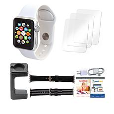 Apple® Series 3 42mm Sport Watch with Extra Bands and Stand - White