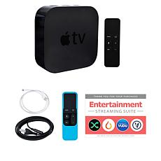 Apple TV 32GB 4K with Siri Remote, Silicone Skin and Services Voucher