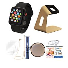 Apple Watch Series 3 38mm Black Cellular Bundle with Nylon Band