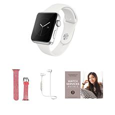 Apple Watch Series 3 38mm Space Gray Bundle with Bluetooth Earbuds