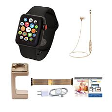 Apple WatchSeries 3 38mm with Cellular & Wireless Headphones – Black