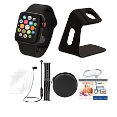 Apple Watch Series 3 42mm Black Cellular Bundle with Nylon Band
