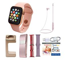 Apple Watch Series 4 40mm with 2 Extra Bands, Wireless Earbuds & Stand