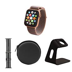 Apple Watch Series 4 GPS 40mm w/Hard Carry Case, Nylon Band and Stand