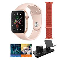 Apple Watch Series 5 40mm in Rose Gold with GPS and 3-in-1 Stand