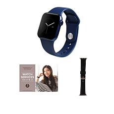 Apple Watch Series 6 40mm Blue with GPS and Leather Band