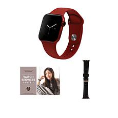 Apple Watch Series 6 44mm Red with GPS and Leather Band