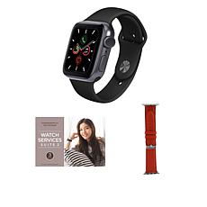 Apple Watch Series 6 44mm Space Gray with GPS and Leather Band