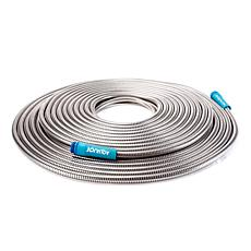 Aqua Joe® Heavy-Duty 100' Stainless Steel Garden Hose