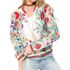 Aratta Bellezza Embroidered Jacket - White