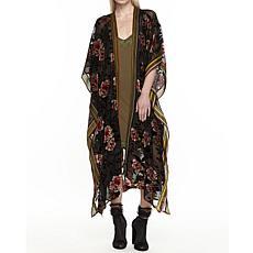 Aratta Flying Ebony Burnout Kimono