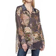 Aratta for Adriana Shirt - Faded Black Floral
