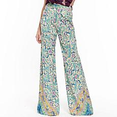 Aratta Ibiza Pants - Blue/Yellow Print