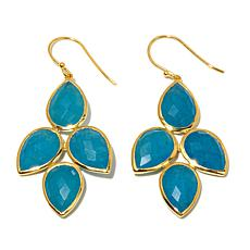 Argento Vivo Blue Quartzite Chandelier Drop Earrings