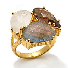 Argento Vivo Multigemstone Cluster Ring