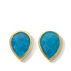 Argento Vivo Pear-Shaped Gemstone Stud Earrings