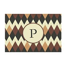 Argyle Personalized Doormat