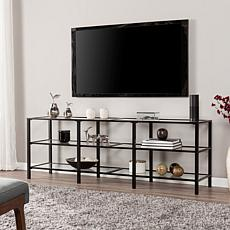 Ari Metal and Glass TV Stand - Black