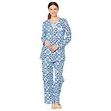 Aria 3-piece Cotton Jersey Pajama Set
