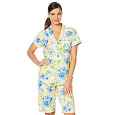 Aria Cotton Jersey Bermuda Short 2-piece PJ Set