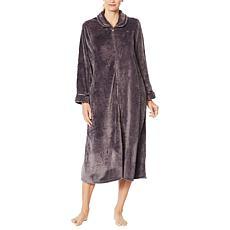Aria Plush Textured Rose Zip-Front Robe