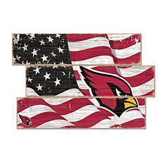 Arizona Cardinals Flag 3 Plank