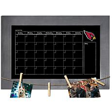 Arizona Cardinals Monthly Chalkboard with frame & clothespins 11x19...