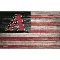 Arizona Diamondbacks Distressed Flag 11x19