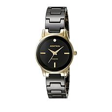 Armitron Women's Black Resin and Goldtone  Strap Watch