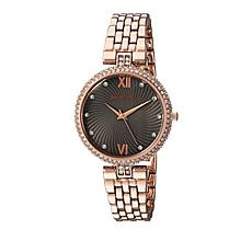 Armitron Women's Rosetone Crystal Bezel Bracelet Watch