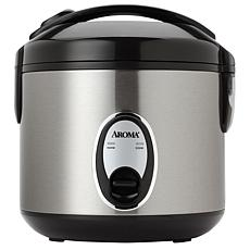 Aroma 8-Cup Stainless Steel Rice Cooker