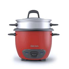 Aroma ARC-743-1NGR 6-Cup Pot Style Rice Cooker - Red