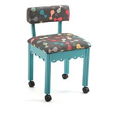 Arrow Cabinets Sewing Chair with Cat Print