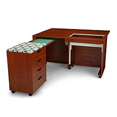 Arrow Laverne Sewing Cabinet with Shirley Four Drawer Storage Cabinet