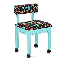 Arrow Sewing Chair with Seat Storage - Blue/Black