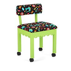 Arrow Sewing Chair with Seat Storage - Green/Black