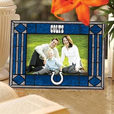 Art Glass Horizontal Photo Frame - Indianapolis Colts