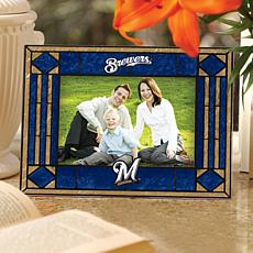 Art Glass Horizontal Picture Frame - Milwaukee Brewers