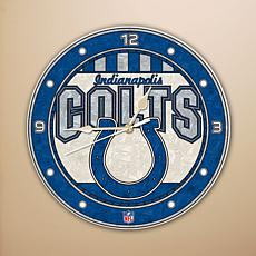 Art Glass Wall Clock - Indianapolis Colts