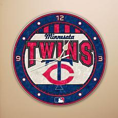 Art Glass Wall Clock - Minnesota Twins