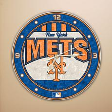 Art Glass Wall Clock - New York Mets