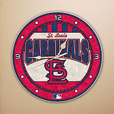 Art Glass Wall Clock - St. Louis Cardinals