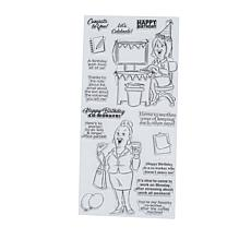 Art Impressions Clear Stamps Office Party 16-piece Set